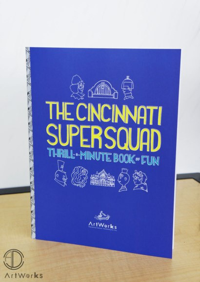 Activity book made in collaboration with other Cincinnati artists the summer of 2014. More at: https://adamicoart.com/2015/02/25/the-cincinnati-super-squad/